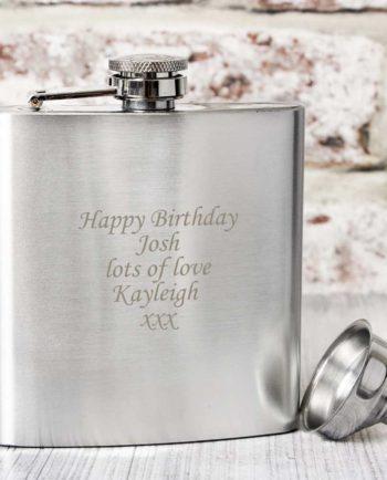 Personalised 6oz Stainless Steel Hip Flask