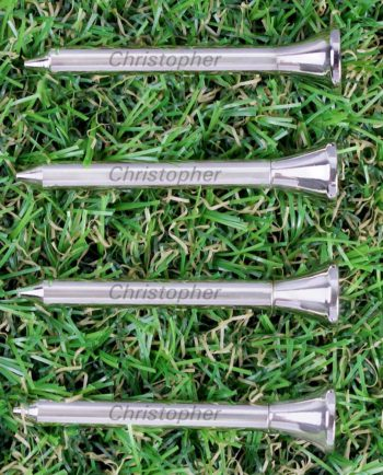 Personalised 4 Pack of Metal Golf Tees