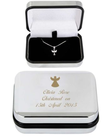 Personalised Angel Pendant Necklace and Box