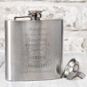 Personalised Classic Vintage Hip Flask