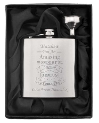 Personalised Classic Vintage Hip Flask