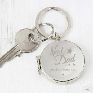 Personalised 'No.1 Dad' Photo Keyring