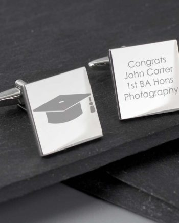 Personalised Graduation Cap Square Cufflinks