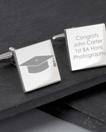 Personalised Graduation Cap Square Cufflinks