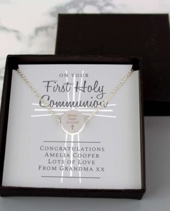 Personalised 1st Holy Communion Necklace and Sentiments Card