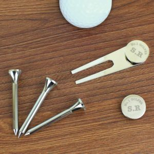 Personalised Metal Golf Set