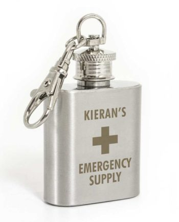 Personalised Mini Stainless Steel Hip Flask Keyring