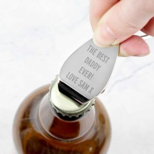 Personalised 'Your Message' Bottle Opener Keyring