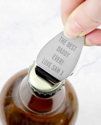 Personalised 'Your Message' Bottle Opener Keyring
