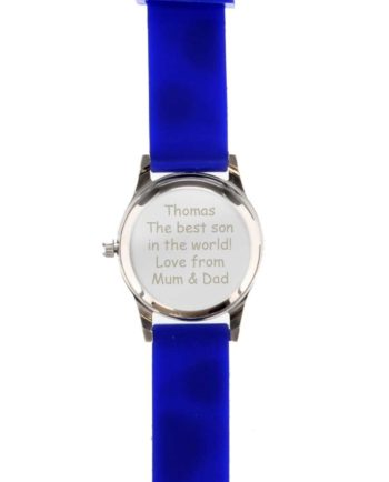 Personalised Blue 'Time Teacher' Football Watch