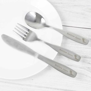 Personalised 3 Piece Dinosaur Cutlery Set