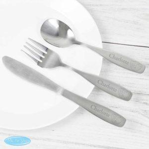 Personalised 'Tatty Teddy' 3 Piece Cutlery Set