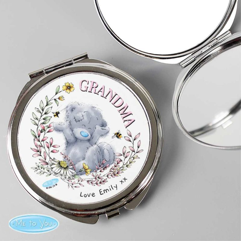 Personalised 'Me to You Tatty Teddy' Flower Compact Mirror