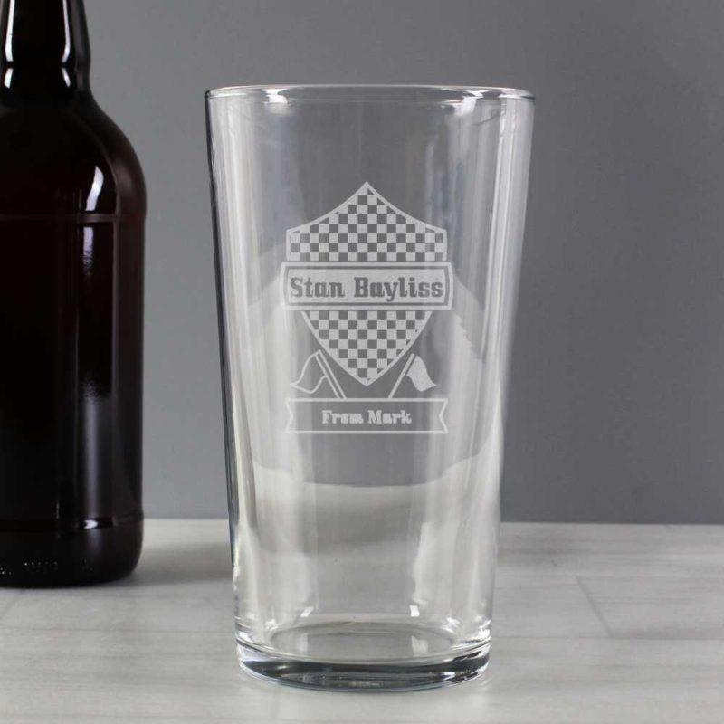 Personalised 'Formula 1' Pint Glass