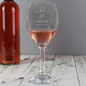 Personalised Special Age Birthday Wine Glass