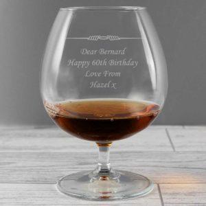 Personalised Ornate Brandy Glass