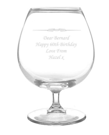 Personalised Ornate Brandy Glass