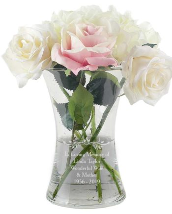 Personalised Your Sentiments Glass Vase