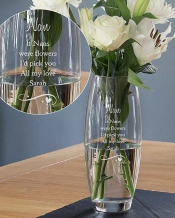 Personalised Swirls & Hearts Bullet Vase