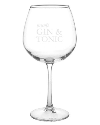 Personalised 'Gin and Tonic' Balloon Glass