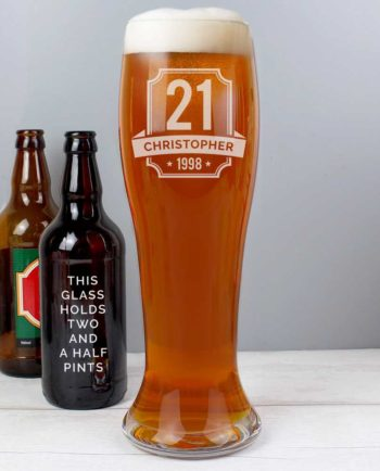 Personalised Special Birthday Giant Beer Glass