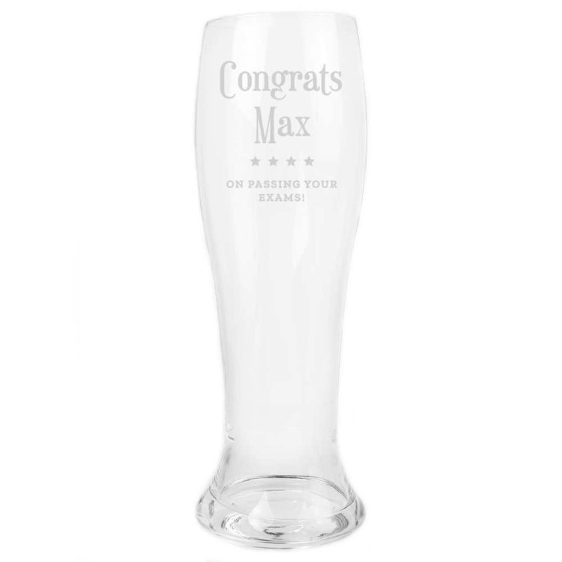 Personalised Giant Two And A Half Pint Glass