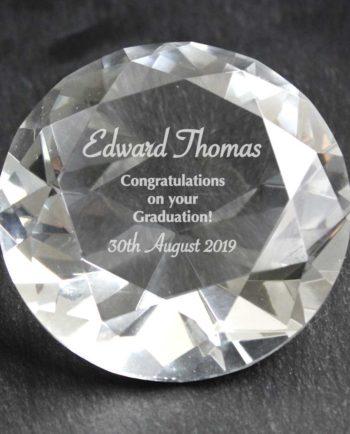 Personalised Occasions Diamond Paperweight