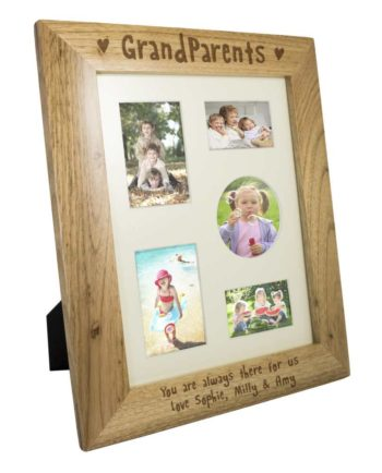 Personalised 'Grandparents' Wooden Photo Frame