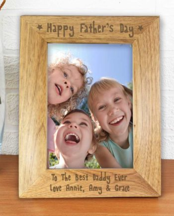 Personalised Father's Day Wooden Photo Frame