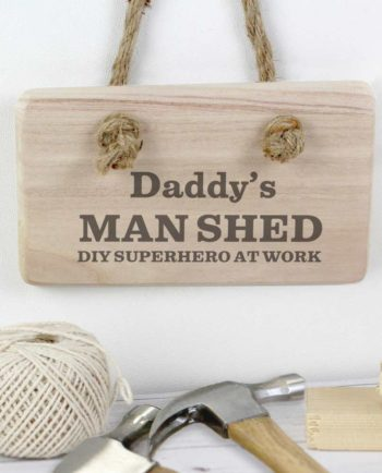 Personalised 'Hero At Work' Wooden Sign