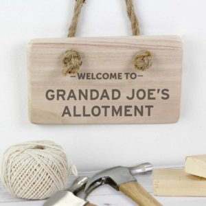 Personalised Welcome To... Wooden Hanging Sign
