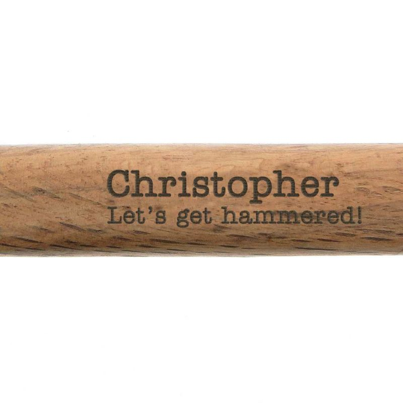 Personalised 'Any Message' Wooden Hammer