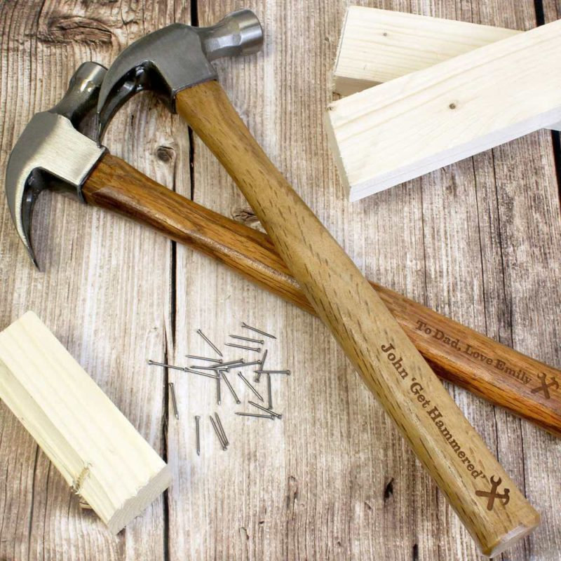 Personalised 'Man At Work' Hammer