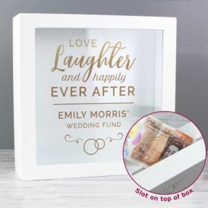 Personalised Wooden Wedding Fund Money Box