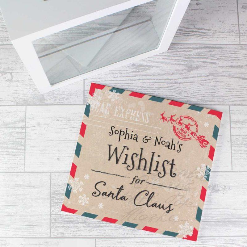 Personalised 'Wishlist for Santa' Keepsake Box