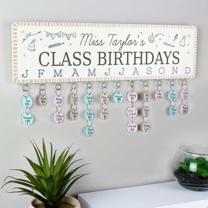 Personalised 'Birthday Planner' Plaque with Customisable Discs