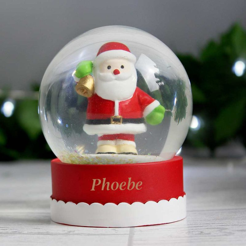 Personalised Santa Shimmering Snow Globe
