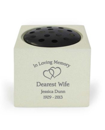 Personalised 'Entwined Hearts' Memorial Vase