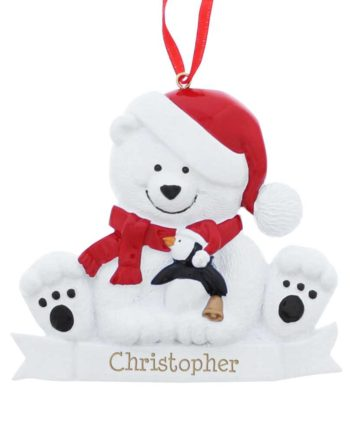 Personalised Polar Bear Resin Decoration
