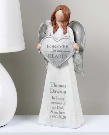 Personalised 'Forever In Our Hearts' Angel Ornament