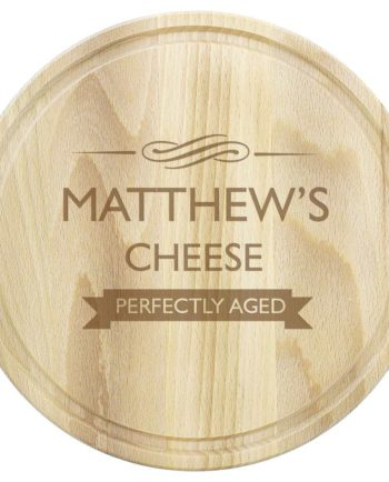 Personalised Perfectly Aged Round Chopping Board