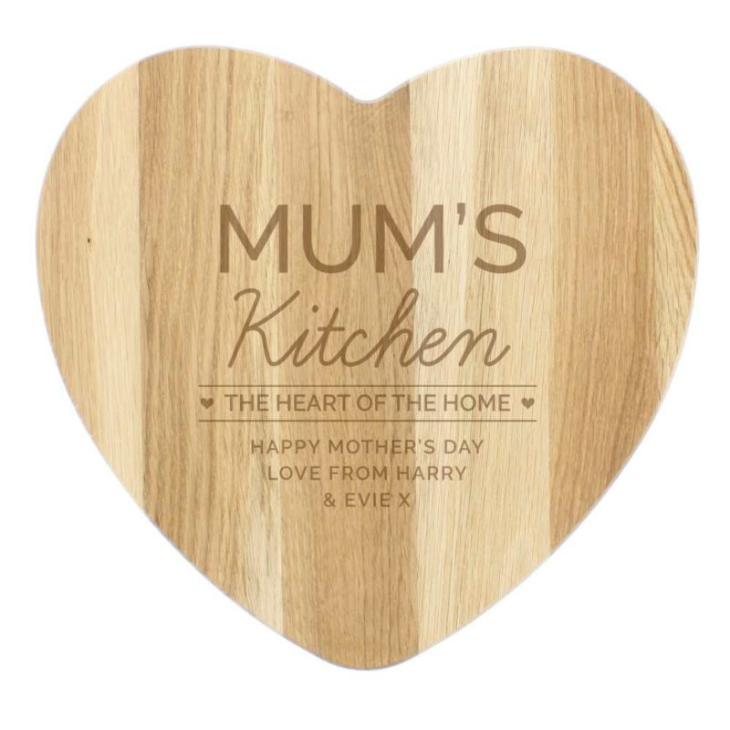 Personalised ' The Heart of The Home' Wooden Chopping Board