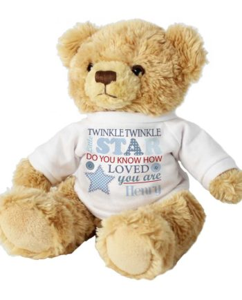 Personalised Twinkle Boys Teddy Bear