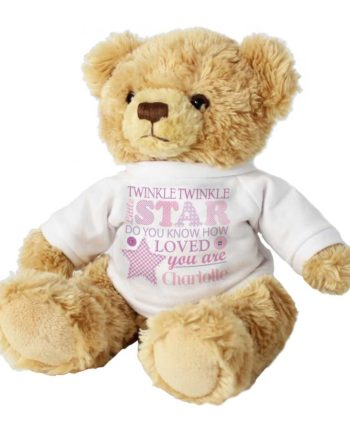 Personalised Girls Cuddly Teddy Bear with Jumper