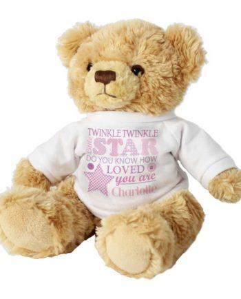 Personalised Girls Cuddly Teddy Bear with Jumper