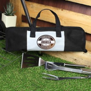 Personalised Stainless Steel BBQ Tools Gift Set