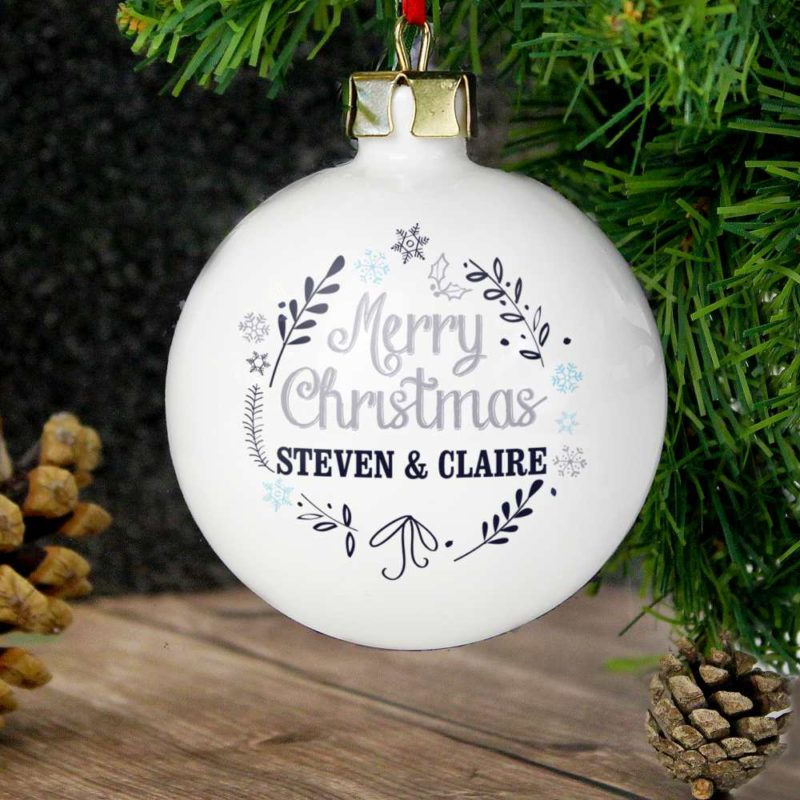 Personalised 'Christmas Snowflake' Bauble