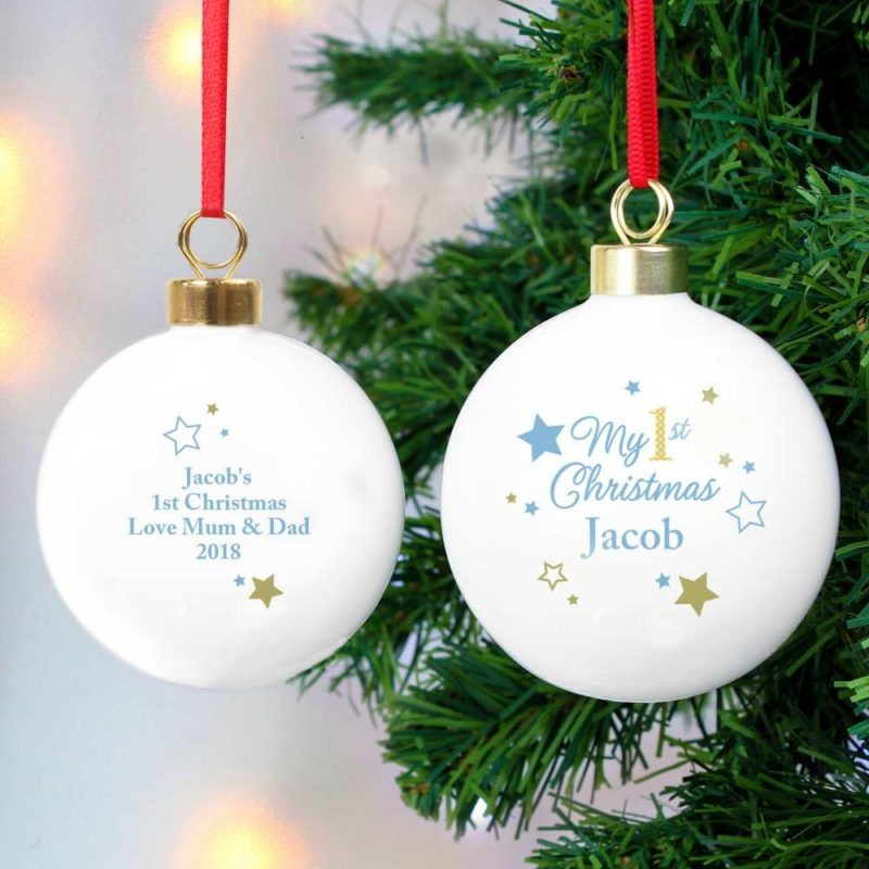 Personalised My 1st Christmas Stars Bauble