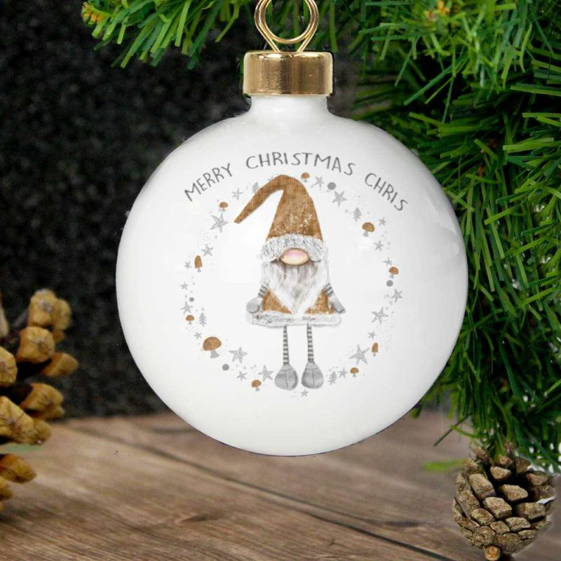 Personalised Scandinavian Christmas Gonk Bauble