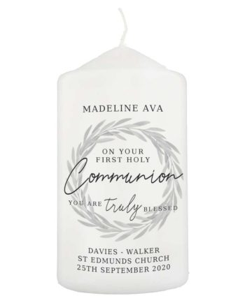 Personalised First Holy Communion Pillar Candle